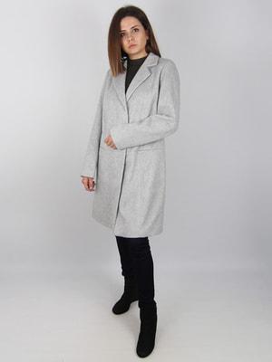 Пальто светло-серое   4456357