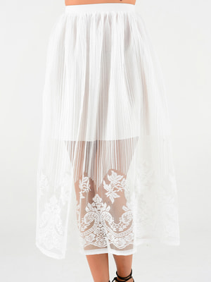 Спідниця біла з візерунком | 4312350