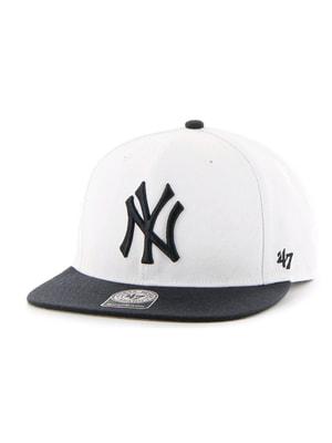 Бейсболка бело-черная | 4594280