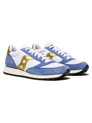 Кроссовки бело-голубые Jazz O Vintage | 4715524