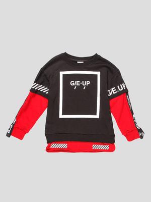 Джемпер черно-красный | 4710483