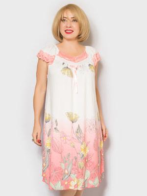 Рубашка ночная в цветочный принт | 4718018