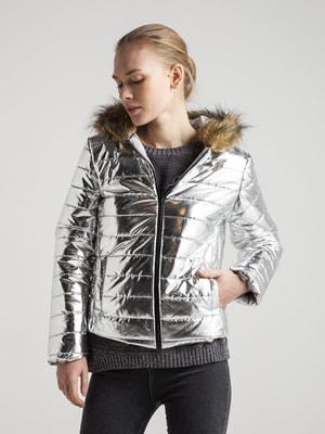 Куртка срібляста | 4716576