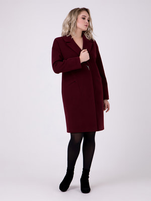 Пальто цвета марсала | 4717953