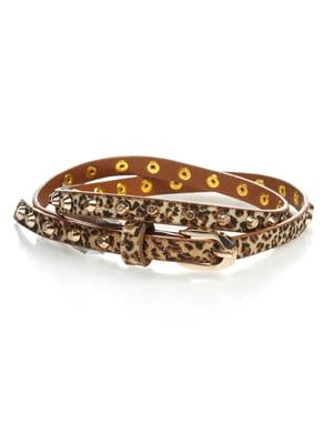 Ремінь в леопардовий принт | 4629359