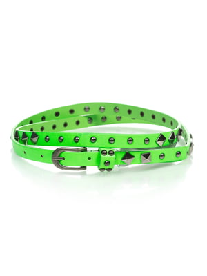 Ремінь яскраво-зелений | 4629051