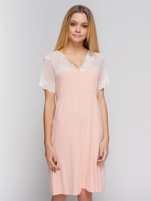 Ночная рубашка персикового цвета | 4712355
