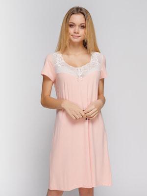Сорочка нічна персикового кольору - Fleri - 4712353