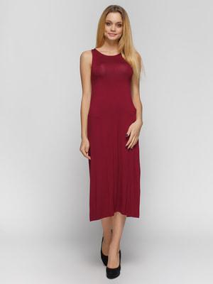 Платье бордовое | 3797764