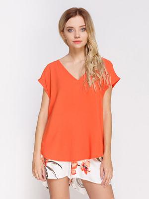 Блуза ярко-оранжевая | 4560104