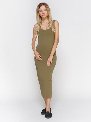 Платье цвета хаки | 3794165