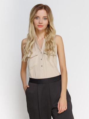 Блуза бежевая | 3808371