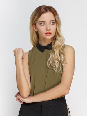 Блуза кольору хакі | 3808896