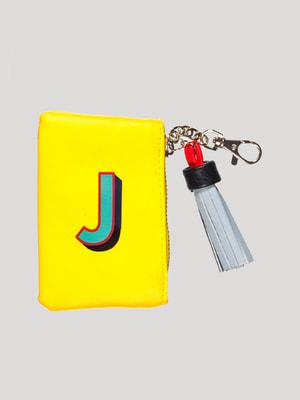 Ключниця жовта з принтом | 4528141