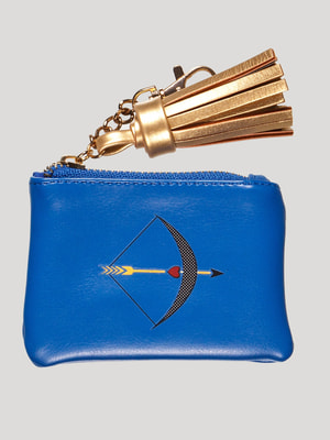 Гаманець синій в принт | 3810512