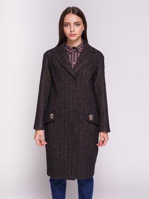 Пальто сине-коричневое | 4714962