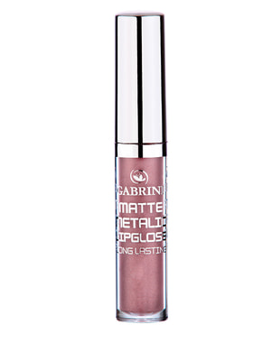 Блеск для губ матовый с эффектом металлик - № 01 (6 мл) | 4723522