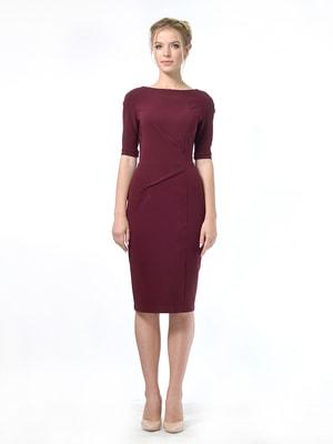 Платье бордовое   4683898