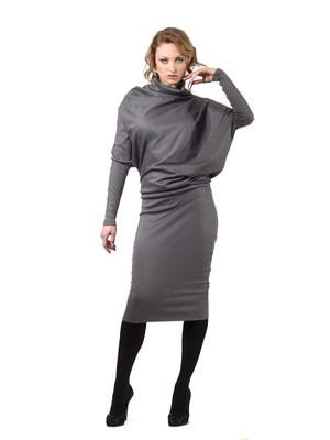 Платье графитового цвета | 4723898