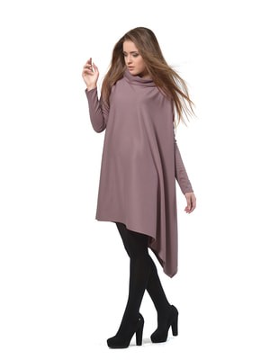 Платье-туника цвета фрез | 4723956