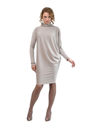 Платье-туника светло-серое   4723963