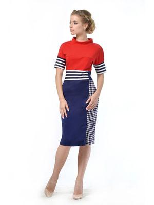 Сукня червоно-синя   4724033
