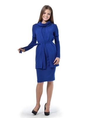 Комплект: платье, кардиган и воротник-хомут | 4724123
