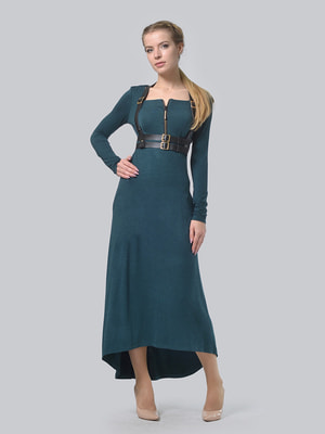 Сукня зелена з портупеєю | 4724128