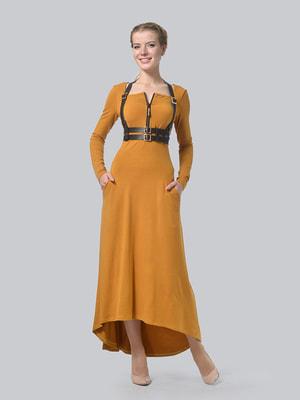 Сукня гірчичного кольору з портупеєю | 4724130