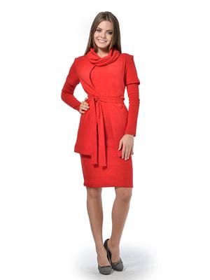 Комплект: платье, кардиган и воротник-хомут | 4724153