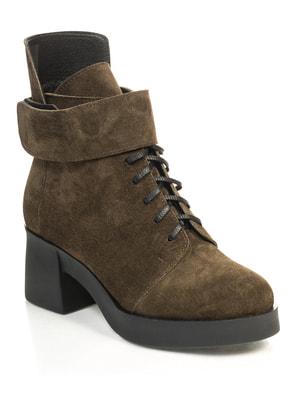 Ботинки оливкового цвета | 4722025