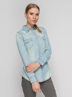 Рубашка голубая | 4625746