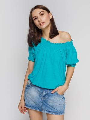 Блуза бірюзова | 2324390