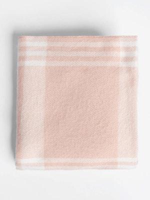 Шарф рожевий в клітинку | 4710725