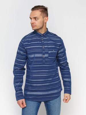 Рубашка синяя в полоску | 1899032