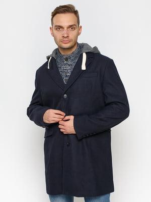 Пальто темно-синє | 2992237