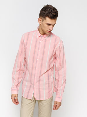 Сорочка рожева в смужку | 1899033