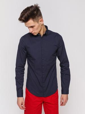 Рубашка черно-синяя | 3966669