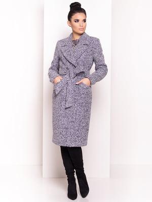 Пальто серо-голубого цвета | 4678047