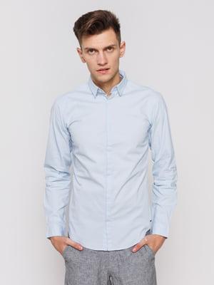 Рубашка светло-голубая | 3966671