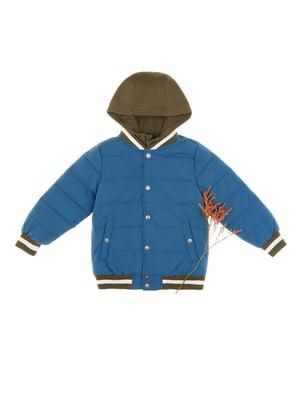 Куртка синьо-зелена | 4624291