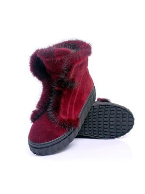 Ботинки бордовые | 4738177