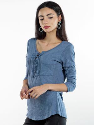 Блуза синяя | 4735740