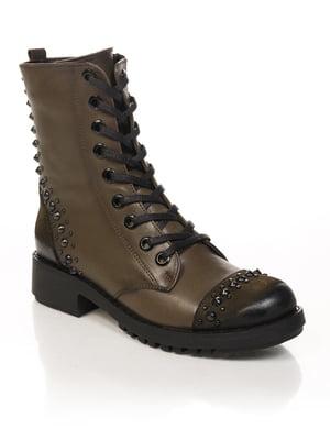 Ботинки цвета хаки | 4731186