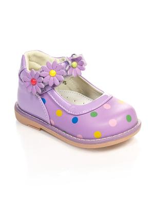 Туфли фиолетовые в горошек   4708068