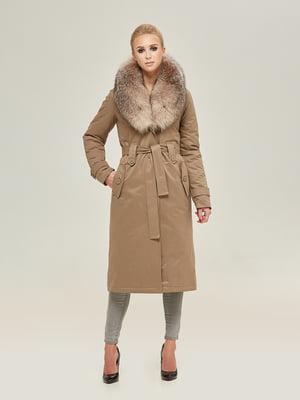 Пальто кольору капучино   4738776