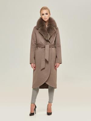 Пальто цвета капучино | 4738785