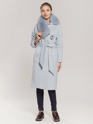 Пальто голубое   4739304