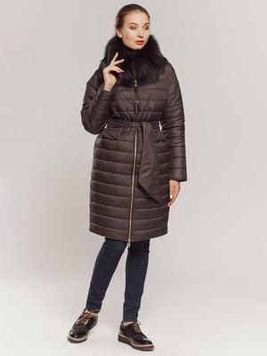 Пальто коричневое | 4739321