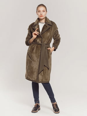 Пальто кольору хакі   4739323
